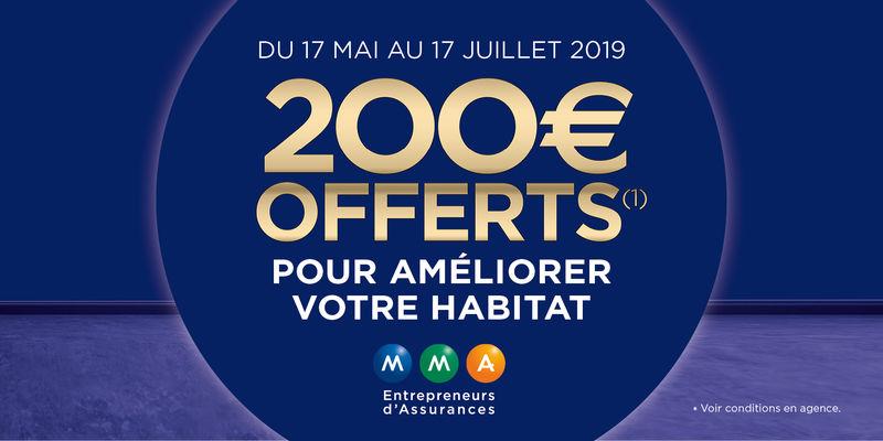 200 € offerts